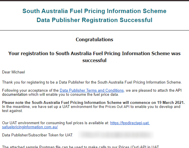 South Australia fuel price reporting trial